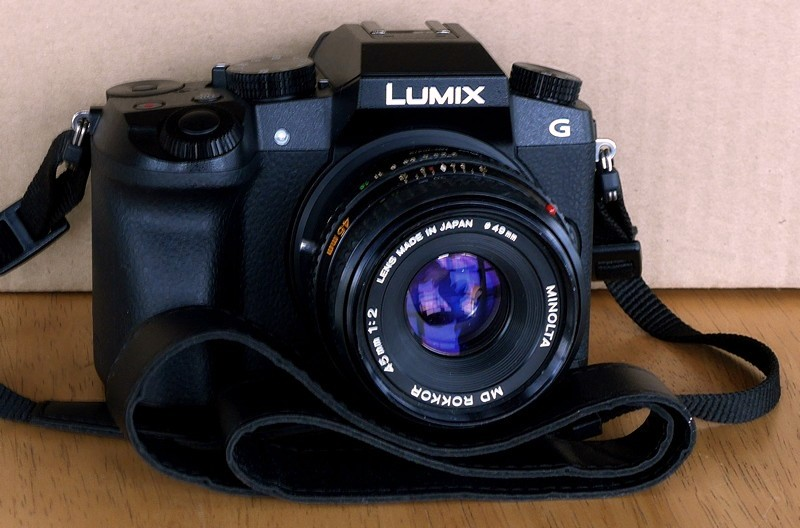 Lumix G7 with Rokkor 45mm f2.0